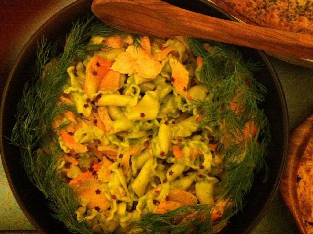 Christmas Salmon Pasta Salad