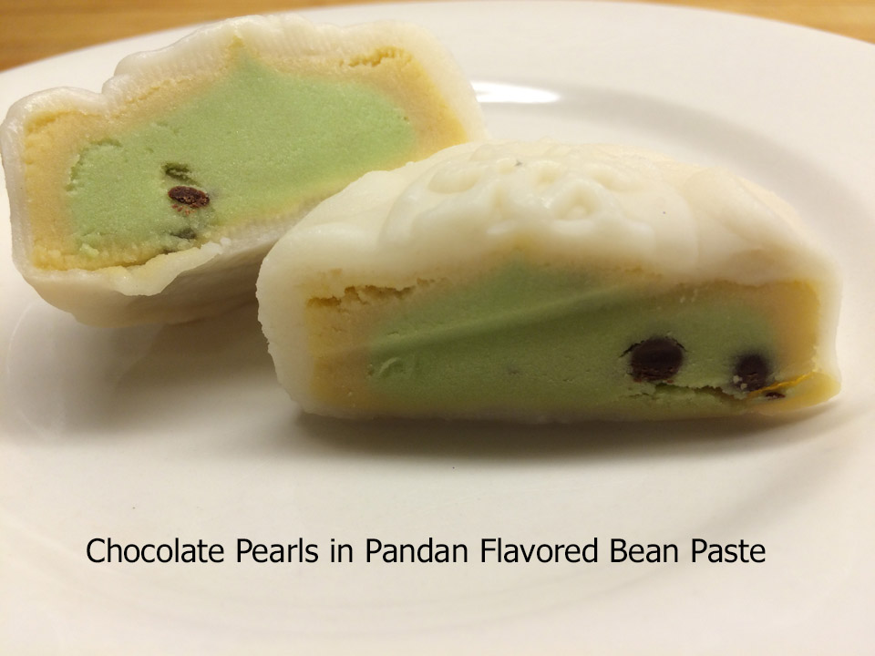 chocolate-pearls-in-pandan-flavored-bean-paste